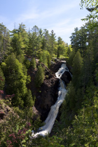 Big Manitou Falls is Wisconsin's highest waterfall and is located about 13 miles south of Superior.